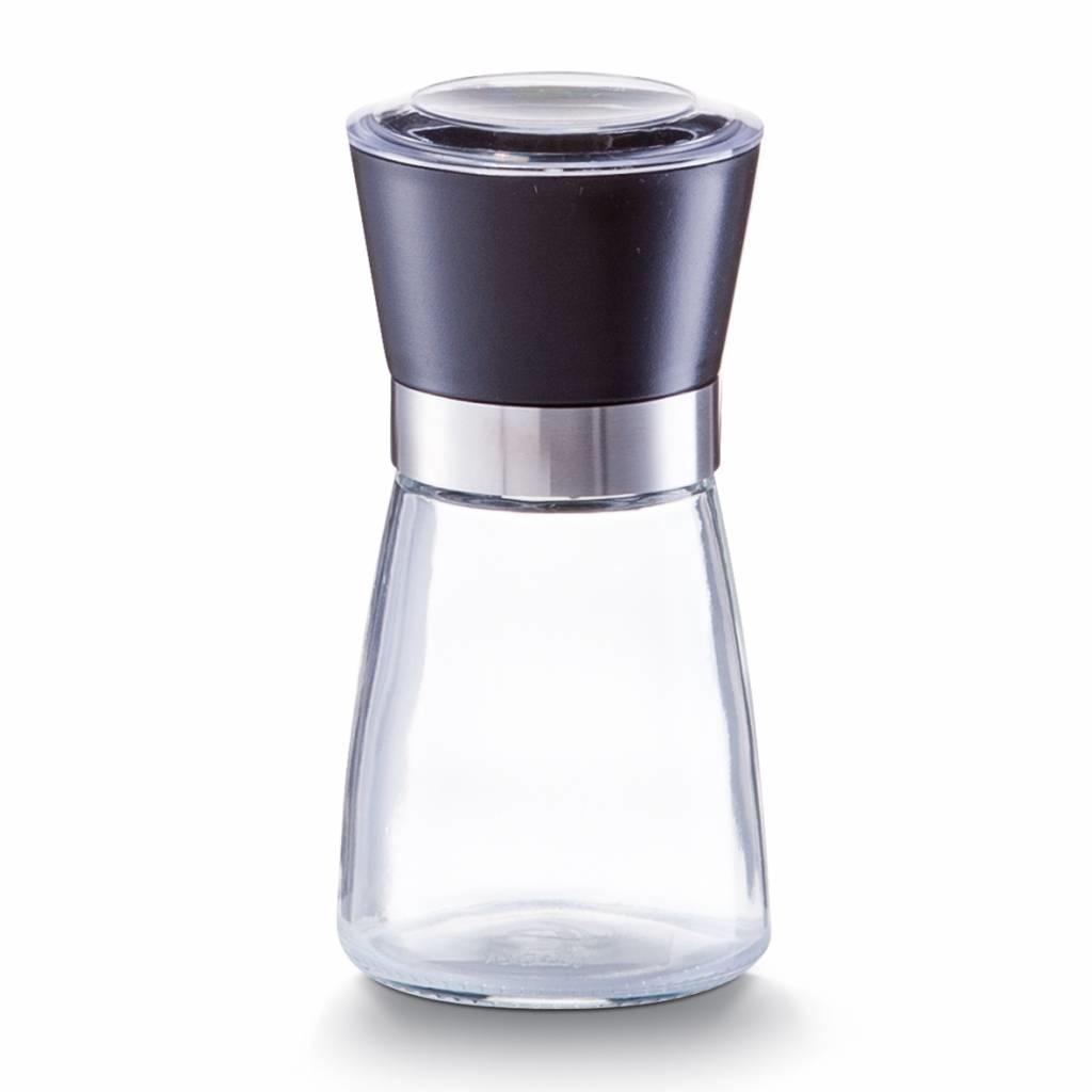 Pfeffermühle aus Glas, schwarz - M