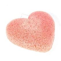 Konjac-Schwamm Tonerde rosa-orange herzförmig