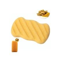 Konjac-Schwamm gelb rechteckig geriffelt