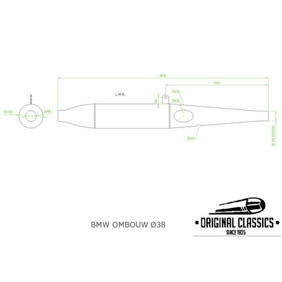 Original Classics Conversion exhaust LHS 38mm