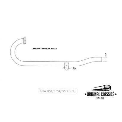 Original Classics BMW R51/3 R67/2 R67/3  pipe righthandside