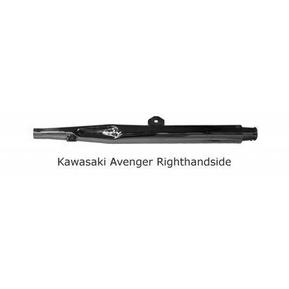 Original Classics Kawaski Avenger exhaust RHS