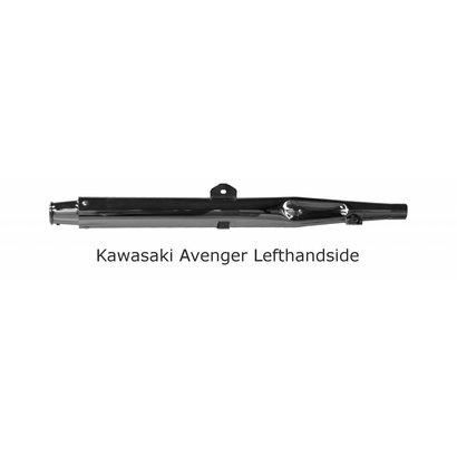 Original Classics Kawaski Avenger exhaust LHS