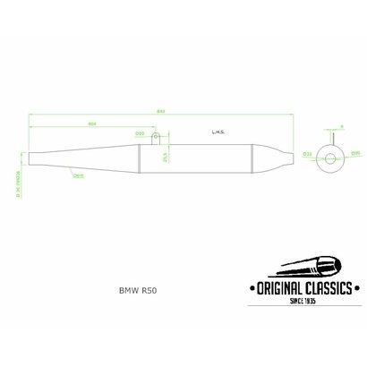 Original Classics BMW R50 R60/2 exhaust LHS