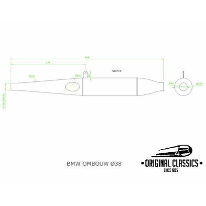 Original Classics Umbau Schalldämpfer rechts 38mm