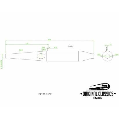Original Classics BMW R50S - R69S Exhaust Righthandside