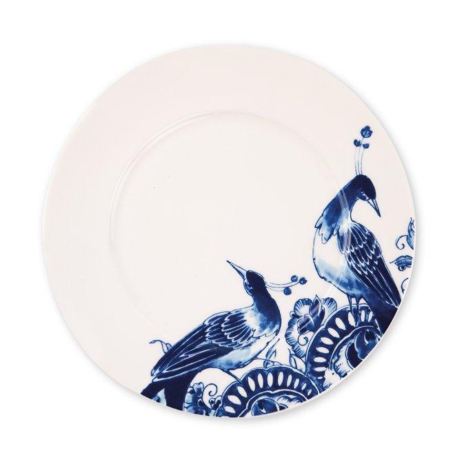 Peacock Symphony Delfts Blauw dessertbord 23,5 cm