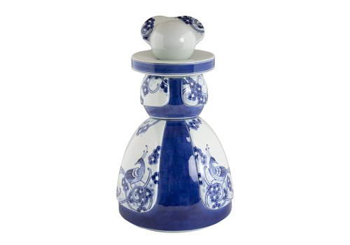Royal Delft Proud Mary Flower Peacock 30cm