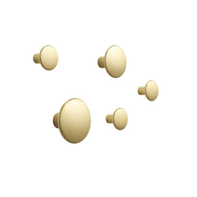 The Dots Metal Wandhaken Set van 5