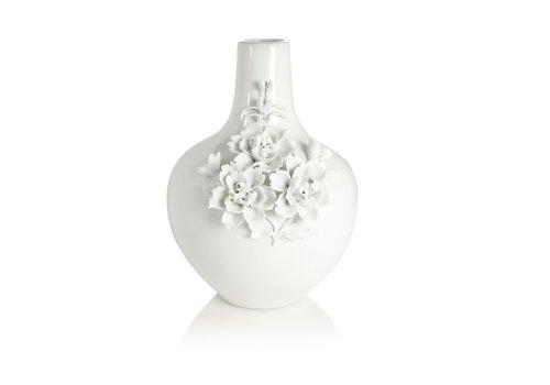 pols potten Vase 3d rose white