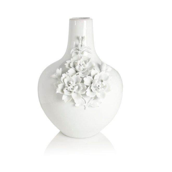 Vase 3d rose white