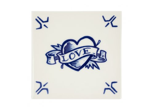 Royal Delft Schiffmacher Tegel Love