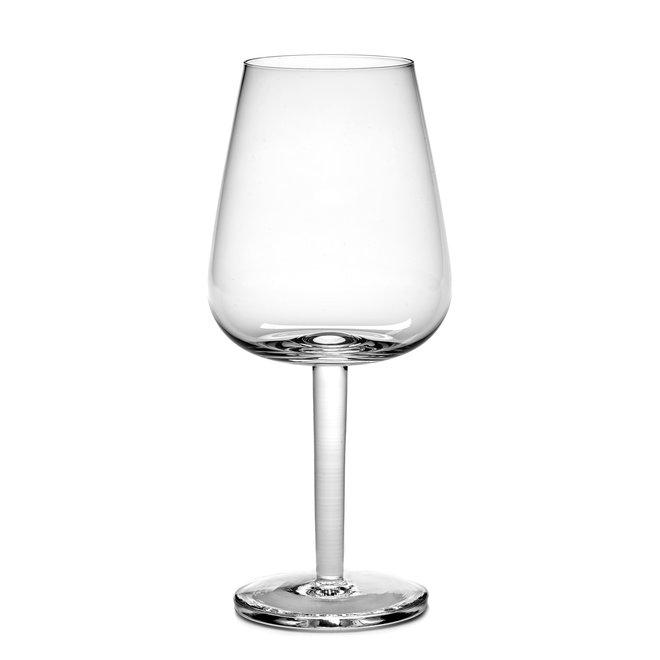 Witte Wijnglas Gebogen Base