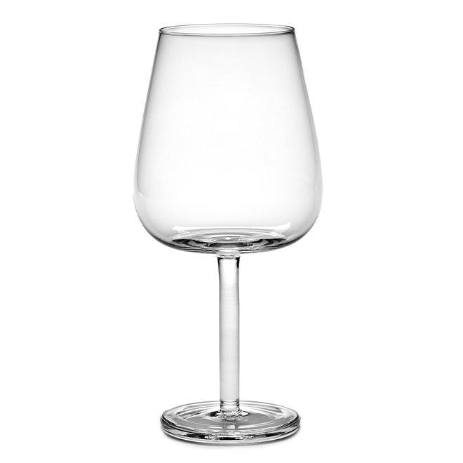 Rode Wijnglas Gebogen Base