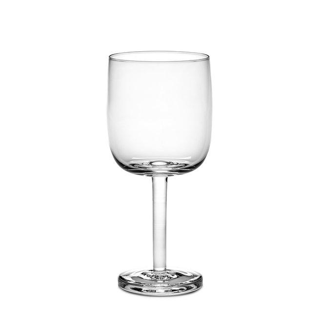 Rode Wijnglas Recht Base