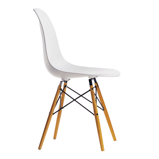 4x Eames Plastic Chair DSW + Eames House Bird