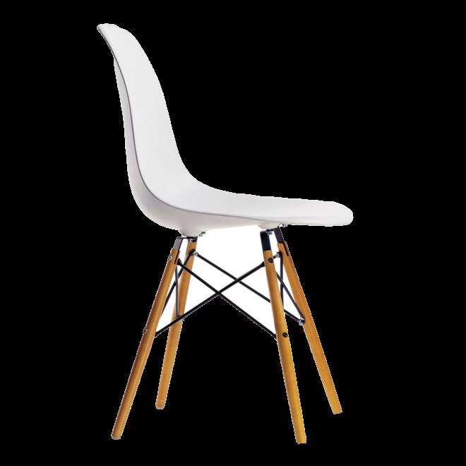 4x Eames Plastic Chair DSW + Gratis Eames House Bird