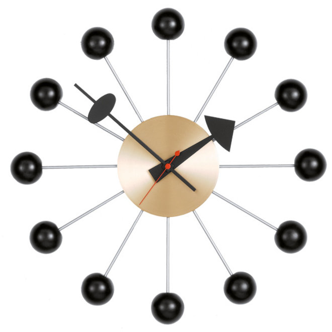 Ball Clock  Black