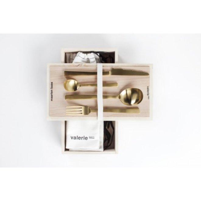Giftbox Maarten Baas Brass Brushed 16 Pcs