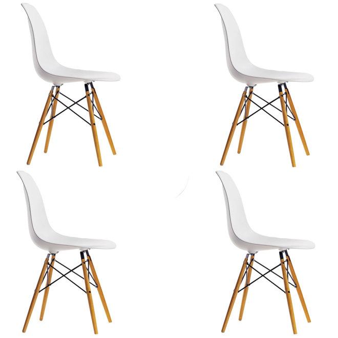 4x Eames Plastic Chair DSW Actie