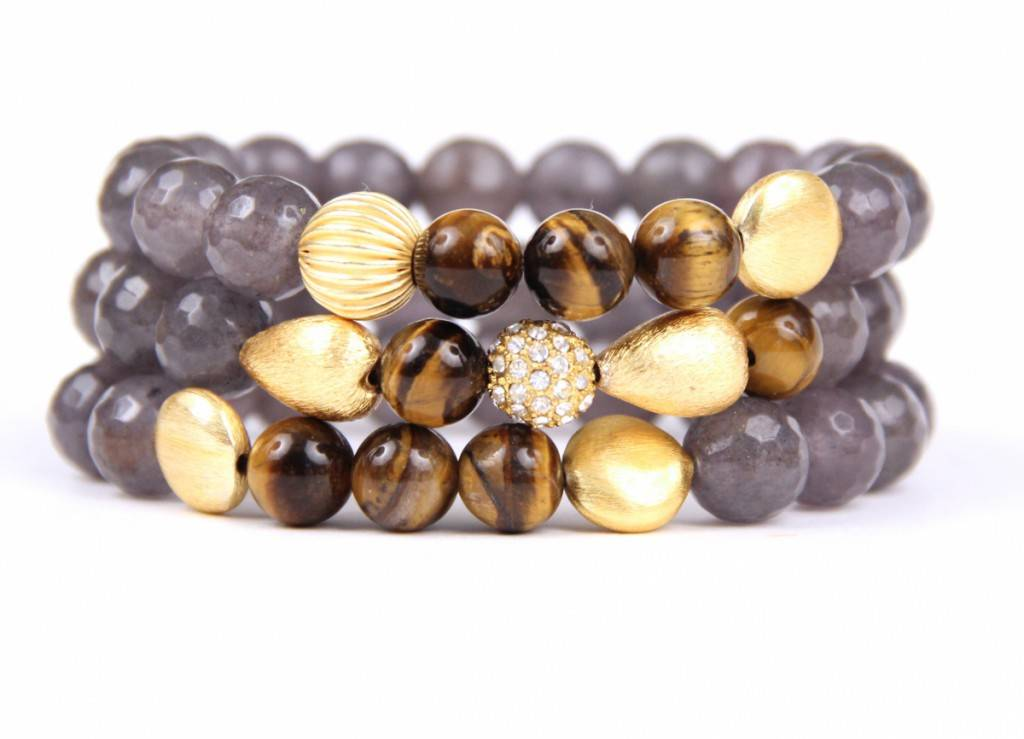 Sangie Palm Beach Tiger Eye set