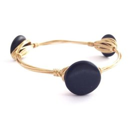 Boho Babes Zwart Rond Gold Wired Bangle