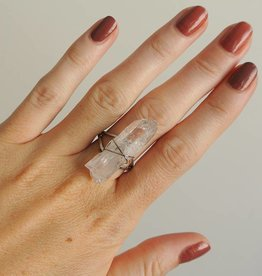 Shantique design Quartz wrap ring