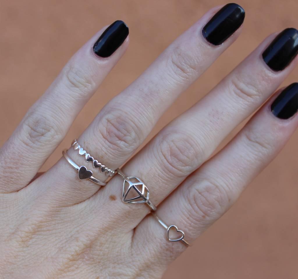 Midsummer Star Heart ring