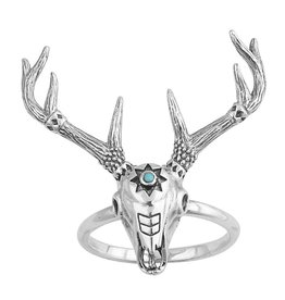 Midsummer Star Cow Skull Ring