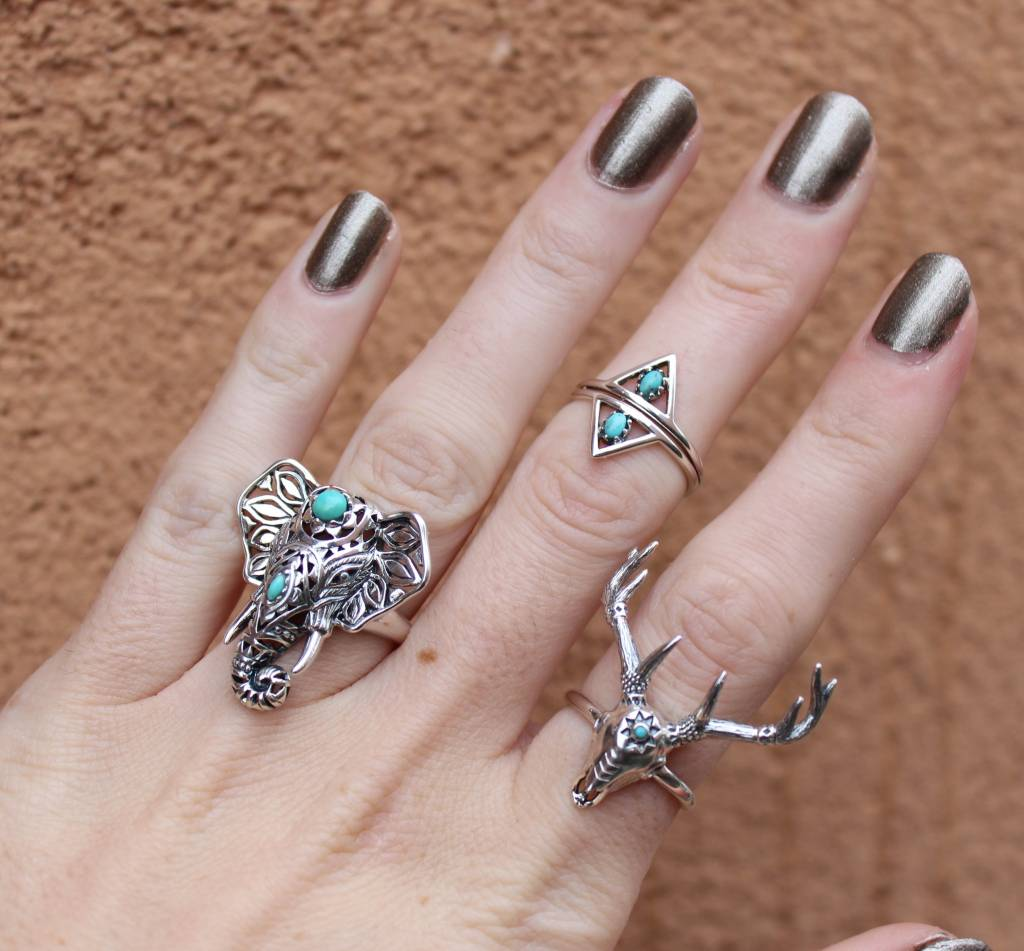 Midsummer Star Cow Skull Ring