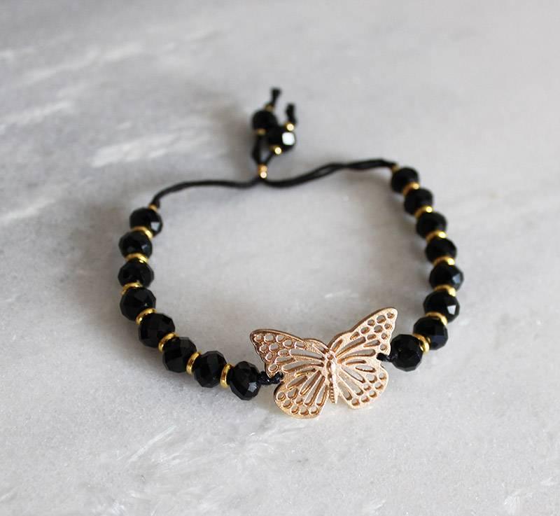 Boho Babes Majou Vlinder en kralen armband