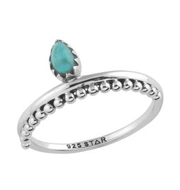 Midsummer Star Beaded Turquoise Ring
