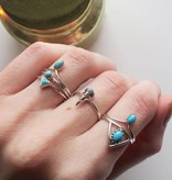 Midsummer Star Turquoise Triangle Ring