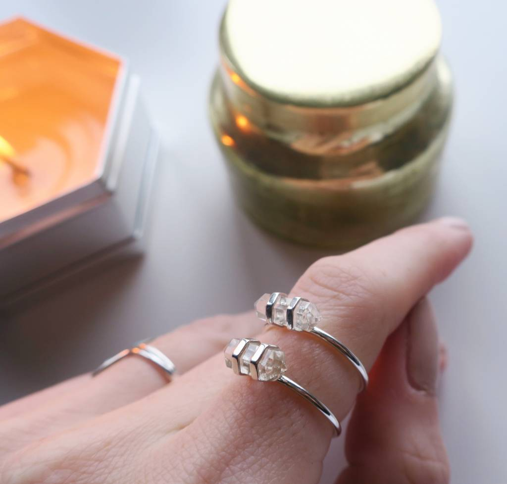 Midsummer Star Crystal Ring