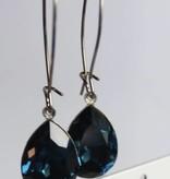 Melissa Kandiyoti Crystal Earrings Blue