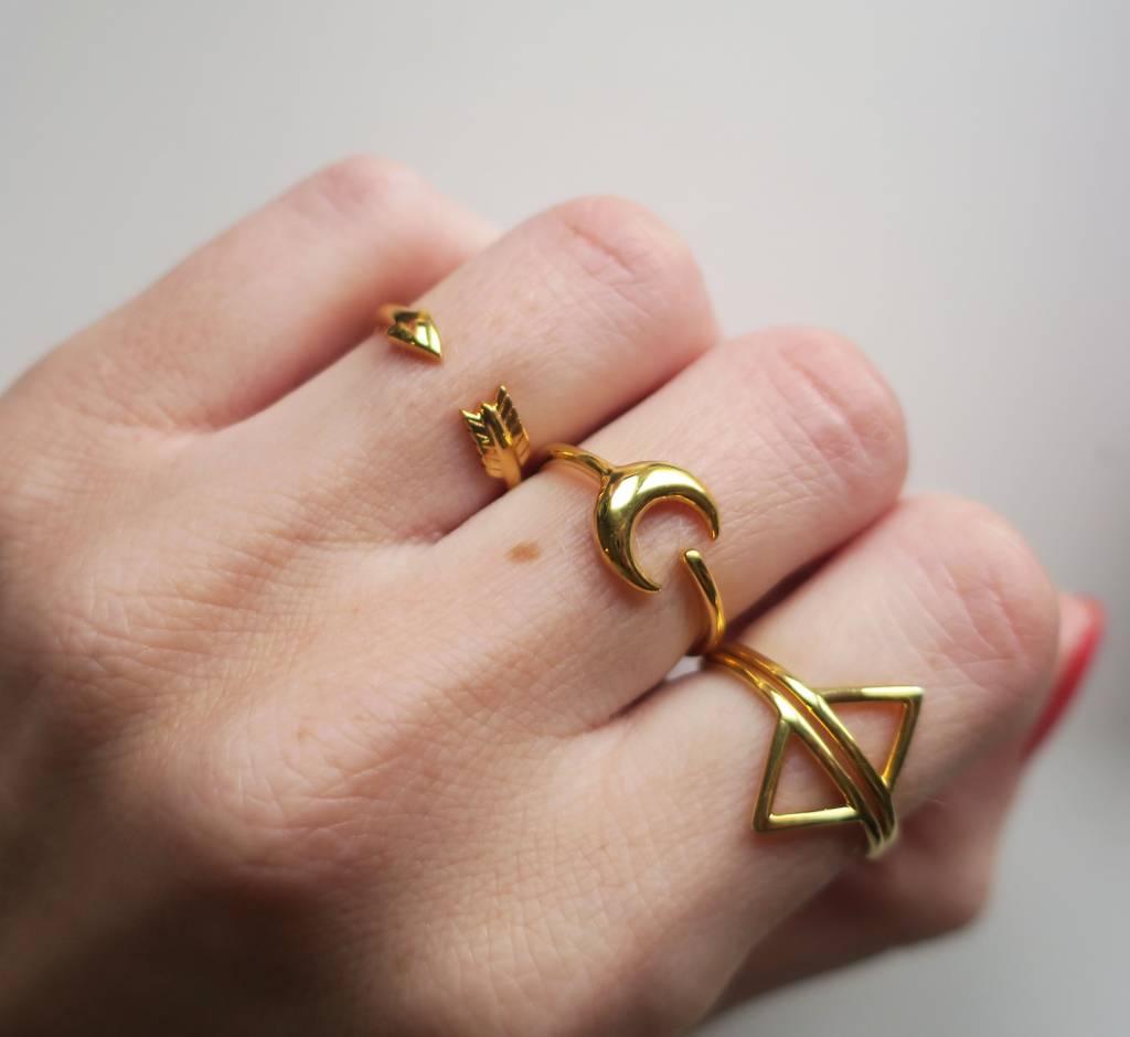 Midsummer Star Arrow Ring Goud