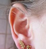 Lunai Leaves oorbellen