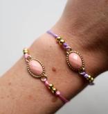 Boho Babes Pink stone armband