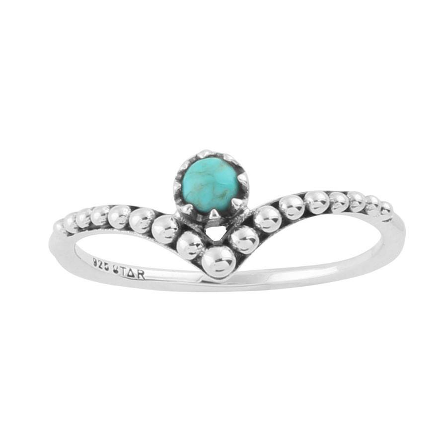 Midsummer Star Dainty Turquoise Ring