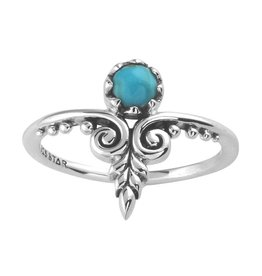 Midsummer Star Ornate Turquoise Ring