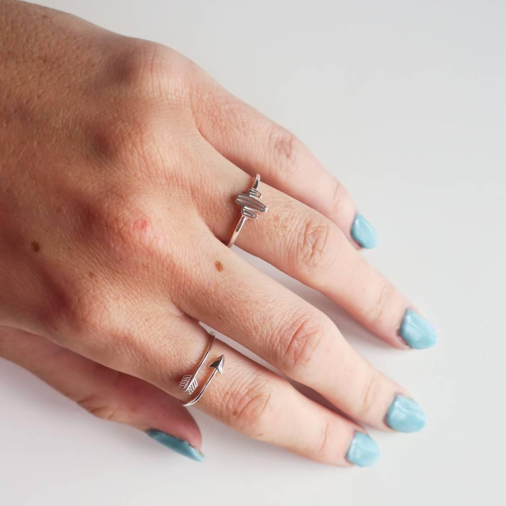 Midsummer Star Arrow ring