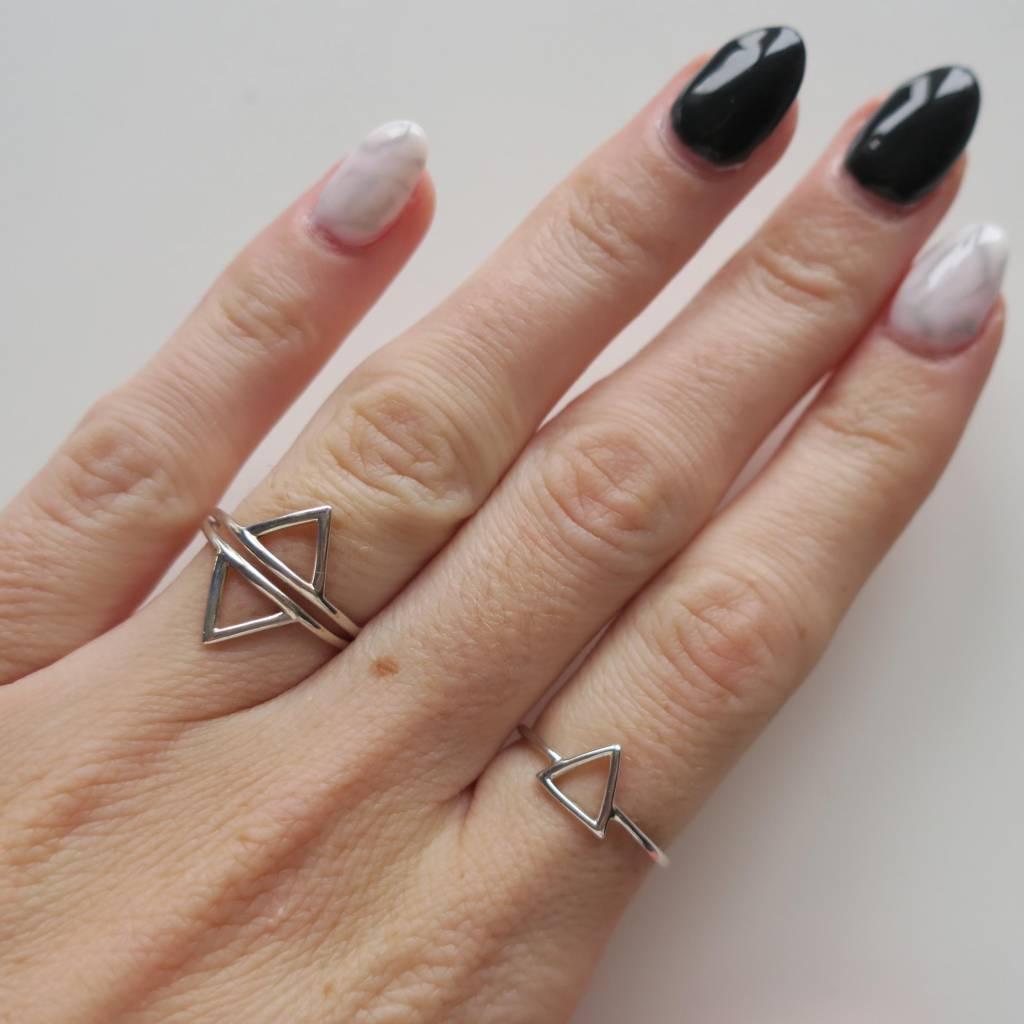 Midsummer Star Triangle Open Ring