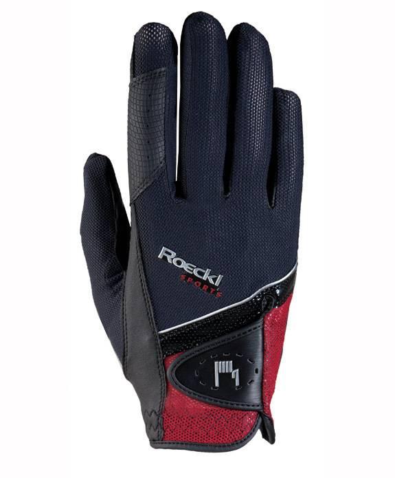 Roeckl Handschuh Madrid schwarz/rot