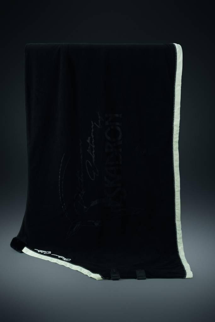 Platinum Abschwitzdecke Fleece Stamp Black