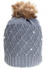 Strickmütze Pearl grau melange