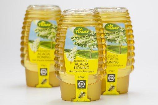 Biologische Acacia Honing  Knijpfles