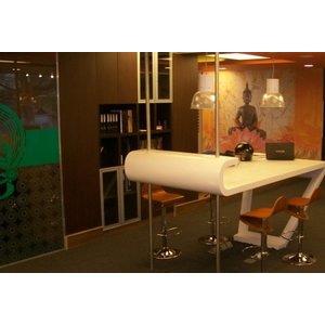 ASLAN E-300 Glasdecoratiefilm geëtste glazen zandstraal look , 126 cm