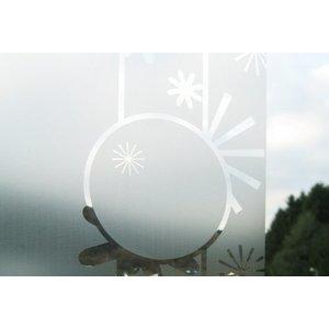 ASLAN E-302 Glasdecoratiefilm met een geëtste zilver look , 126 cm