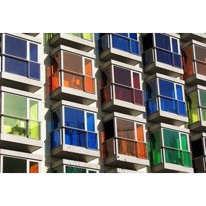 ASLAN  CT-113 Transparant gekleurde Glas-Folie 125cm + 20 kleuren