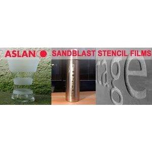 Zandstraal folie Aslan S69 glas/metaal 80 um - 125 cm